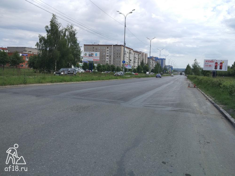 Начало нового асфальта на 40 лет Победы после Ленина в сторону Моторной