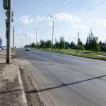 Начало отремонтированного участка 40 лет Победы со стороны Закирова