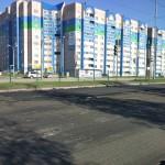 Укладка левой полосы на 40 лет Победы в Ижевске, 11.05.2016