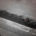 Проливка битумом левой полосы на 40 лет Победы в Ижевске при ремонте в 2016