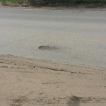 ул. Володарского, во время дождя весь песок и земля с обочины бежит по дороге, делали ремонт обочины в 2015 году