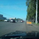 Старт ремонта дорожного полотна на Воткинском шоссе в Ижевске, май 2016