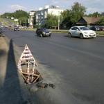 Ремонт люков после укладки асфальта на Ленина в Ижевске