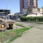 На 40 лет ВЛКСМ в Ижевске сняли асфальт, май 2016