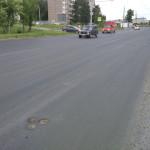 Новый асфальт на ул Моторной в Ижевске, июнь 2016