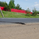 Асфальт на Славянском шоссе