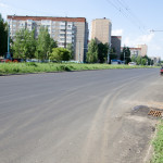 Первомайская между Ленина и Закрова - новый асфальт, май 2016