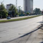 Начало отремонтированного участка Ленина со стороны Карлутки