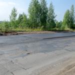 Новый асфальт на убитом участке Славянского шоссе, июль 2016