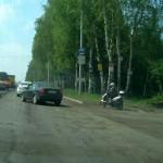 Выравнивающий слой на Воткинском шоссе, май 2016