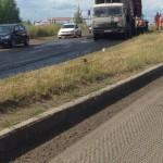 Начало укладки асфальта на Славянском шоссе в Ижевске 2016