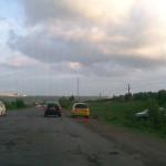 На Славянском шоссе в Ижевске пробивают колёса