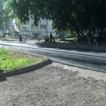 Частично уложен асфальт на 6й Подлесной в Ижевске