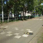 До ремонта проезда на Ворошилова Пешеходный переход к школе №7