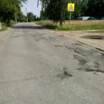 Ямочный ремонт на Ворошилова в районе дома 23