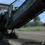 Снятие старого асфальта на Славянском шоссе
